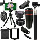 All in 1 Cell Phone Camera Lens Kit 8X/12X Telescope + Fisheye + Wide Angle Set