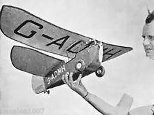 """Model Airplane Plans (FF): Carden-Baynes FLYING FLEA 44""""ws 1cc (.061ci) Engine"""
