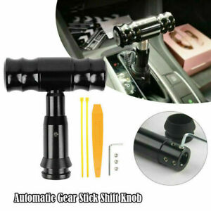 Aluminum Automatic Car Gear Stick Shift Knob Lever Shifter With Button Universal
