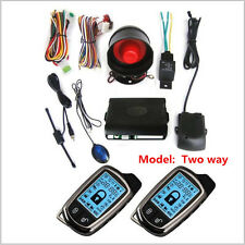 Nuevo 2 vías sistema de seguridad alarma de coche + LCD SUPER contra robos de control de larga distancia