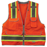 Vero1992 (G) Reflective Safety Vest Class 2 Heavy-Duty Surveyors Safety Vest