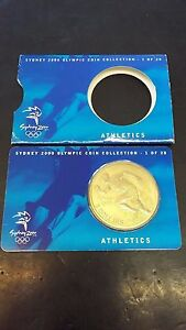 AUSTRALIA - $5 DOLLAR - SYDNEY 2000 OLYMPIC COIN - ATHLETICS COMMEMORATIVE
