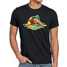 Sheldon Zauberwürfel T-Shirt Herren Big Bang Melting cube cooper rubik theory