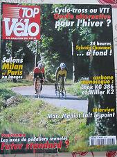 TOP VELO N°56: NOVEMBRE 2001: HIVER CYCLO CROSS OU VTT ? - LOOK KG 386 - WILIER