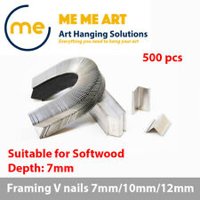 500 x Picture Framing Nails Mitre V nails wedges 7mm  for Softwood