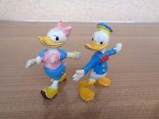 Figurine Donald et Daisy - JIM - France Vintage 60's Walt Disney