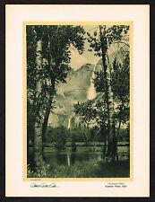 1920's VINTAGE Albert Arthur Allen Yosemite Valley Falls Ca Photo Gravure Print