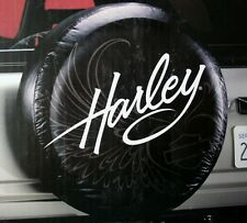 Harley Davidson HD script auto suv motorcycle truck jeep rear spare tire cover