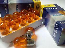 10 Stück PY21W 12V 21W  Bau15s Hella Kugellampe  Glühlampe Orange Blinkerbirne