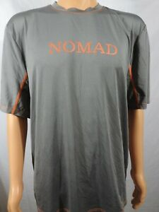 Nomad Spell Out Gray Short Sleeve Hunting Jersey Shirt Sz XL