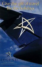 Legend Airlines Promotional Airline Issued Postcard =