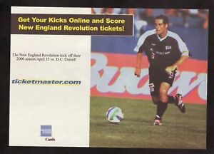 John Harkes--New England Revolution--2000 TicketMaster Magazine Advertisement