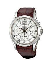 Runde Seiko Premier Armbanduhren aus Edelstahl