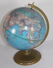 "Vintage Cram Globe Metal Stand Soviet Union Enviro-Sphere 12"" Ussr"