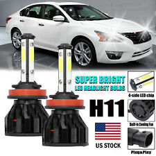 For Nissan Altima 4-Side LED KIT H11 H8 H9 Headlight Bulbs 600W 60000lm 6000K