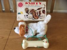 VINTAGE RETRO TOMIYAMA SNIFFY DOG JAPANESE BATTERY OPERATED PUPPY BOXED WORKING
