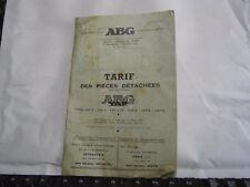 Tarif piéces détachées moteur ABG Vap an 1954