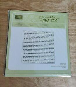NEW Stampin Up FESTIVE embossing folder Bigshot sizzix