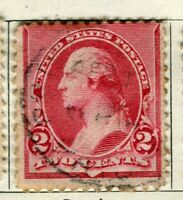 USA; 1890 early Presidential series issue used 2c. value