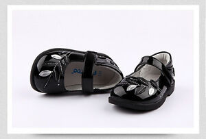 Freycoo Kids Girls Black Formal Wedding Party Shoes sizes: 5 6 7 8 9 10 11 12