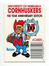 1989 Leesley Nebraska Cornhuskers insert card Herbie Husker
