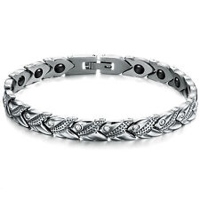 Fashion Women crystal jewelry magnetic health bracelet stainless steel 7.8mm