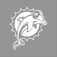 Miami Dolphins NFL Team Logo 1Color Vinyl Decal Sticker Car Window Wall