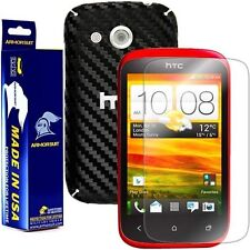 ArmorSuit MilitaryShield HTC Desire C Screen Protector + Black Carbon Fiber Skin