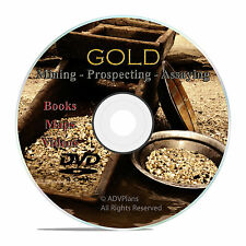 Gold Prospecting Books, Assaying, Panning, Historic Gold Rush Maps CD DVD, V31
