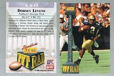 1994 signature rookies tet rad Tetrad DORSEY LEVENS #XXII Packers Georgia Tech