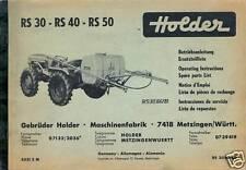 HOLDER RS 30 40 50 Anbauspritze Betriebsanleitung ETL