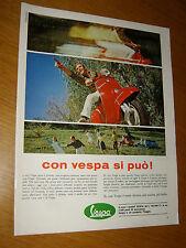 VESPA PIAGGIO CON VESPA DI PUO ' = ANNO 1967 =PUBBLICITA=ADVERTISING=WERBUNG=1