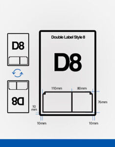 90gsm Double Integrated Labels D8 1000 A4 Stickers Ebay Invoice 110X76 80x76 mm