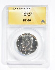 PF66 1964 Kennedy Half Dollar - Graded ANACS *850
