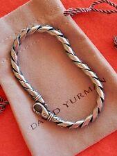 "David Yurman Sterling Silver Metallic Cobra Stippled Bracelet 8"" $550"
