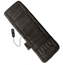 Comfort Products 60-2907P04 10-Motor Massage Plush Mat with Heat, Charcoal Grey