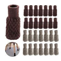 32PCS Chair Leg Socks Knit Non-Slip Table Floor Protector Furniture Feet Covers