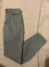 AMERICAN APPAREL Light Pale Blue Wash Zip Fly Slim Jeans W30 L32 Pockets Unisex