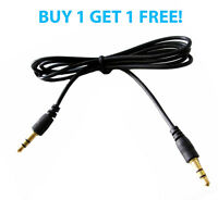 1.2m 3.5mm Mini STEREO Jack to Jack Aux Cable Audio Auxiliary Lead PC Car GOLD 2