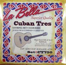 Cuban Tres Strings, Ct750, La Bella Set De Cuerdas Para El Tres Cubano