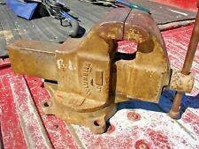 Vintage Columbian 604 4 Jaw Swivel Base Machinist Bench Vise Opens 7 34