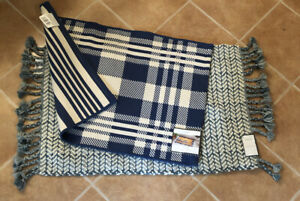 Lot Of 2 New Threshold Accent Rugs BLUE