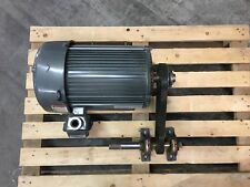 "US Motors H17440A Electric Motor 10 HP with Drive Pulley and 1"" Shaft"