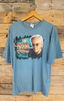 George Jones The Legend Lives Tour T-Shirt Men's Size XL Blue Country Music