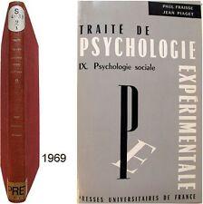 Traité psychologie expérimentale sociale 9 Fraisse Piaget Montmollin Maisonneuve
