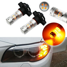 CAN-bus Amber PY24W 5200s 28-CREE LED Bulbs For Audi BMW Benz Front Signal Light
