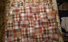 """BAMBOO TRADERS SIZE 8 PLAID SKIRT ORANGE BROWNS 33"""" WAIST 18"""" IN LENGTH GREAT"""