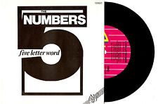"""THE NUMBERS - A FIVE LETTER WORD - 7"""" 45 VINYL RECORD WRAP SLV 1980"""