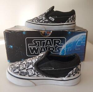 Vans Kids Star Wars Slip On Trainers Darth Vader Stormtrooper Toddler 6