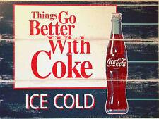 Coca Cola, Retro metal Aluminium Sign vintage / man cave / Bar/ Pub